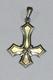 Крест  перевернутый с  пентаклем вар 2 серебро 5,8 г
